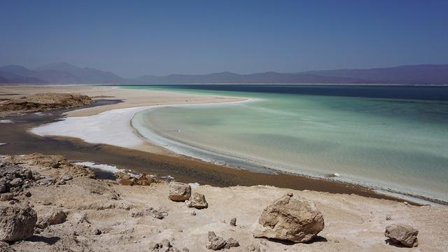 Salt lake salt mine.