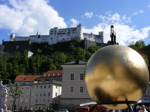 Salzburg austria city, architecture buildings.