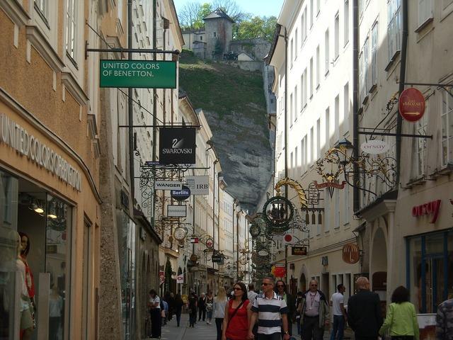 Salzburg austria getreidegasse, travel vacation.