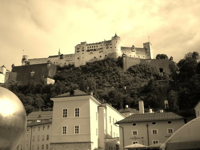 Salzburg austria hohensalzburg fortress.