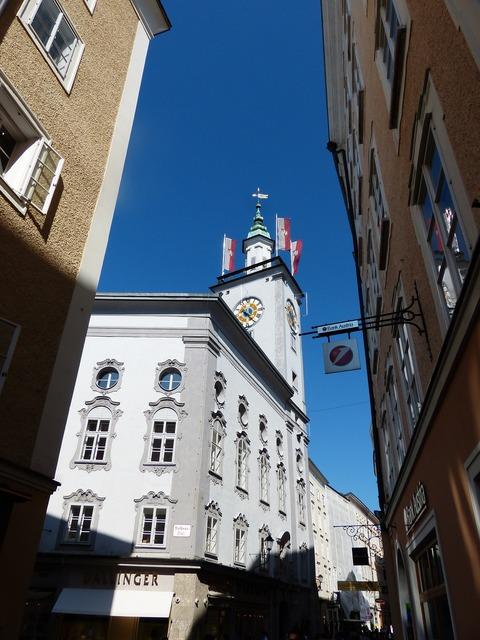 Salzburg city hall town hall salzburg, architecture buildings.