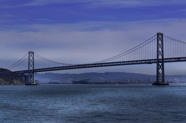San francisco bay bridge ocean, travel vacation.