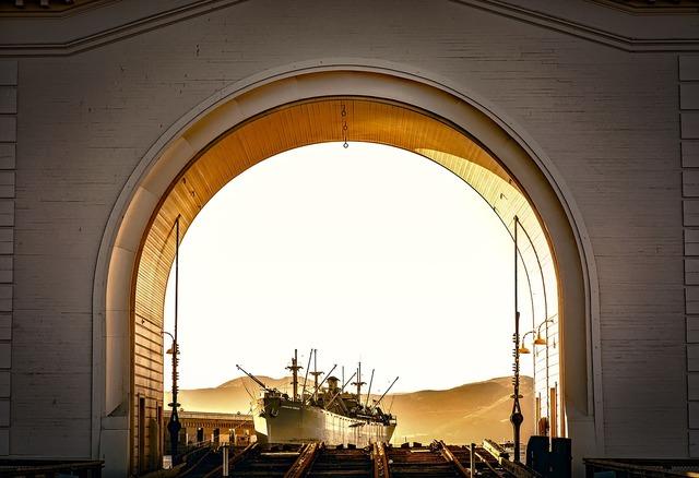 San francisco california ship, industry craft.