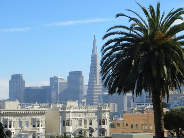 San francisco california usa, architecture buildings.