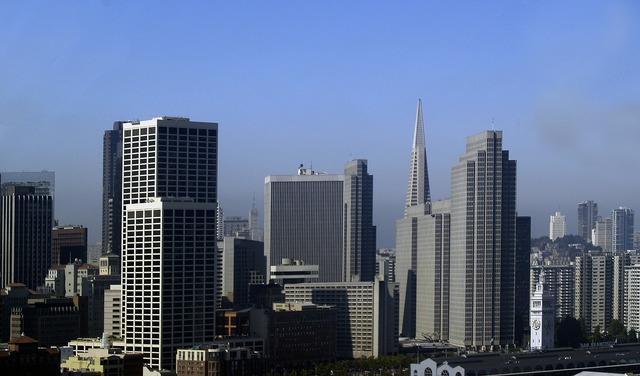 San francisco city buildings, architecture buildings.