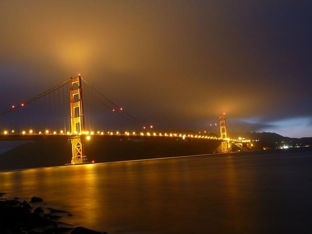 San francisco golden gate bridge suspension bridge.