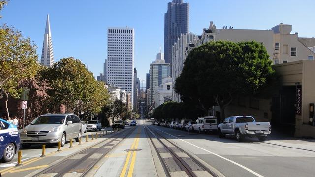 San francisco road america, transportation traffic.