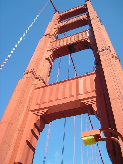 San francisco suspension bridge.