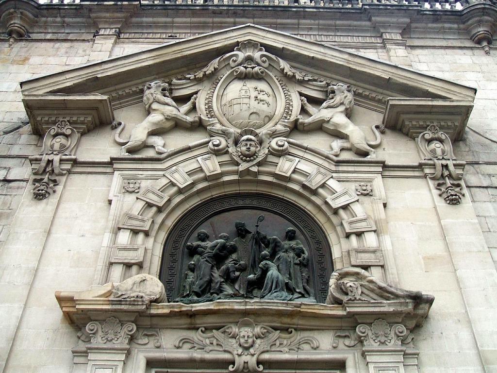 San nicolas church bilbao relief, architecture buildings.