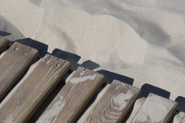 Sand beach board, travel vacation.