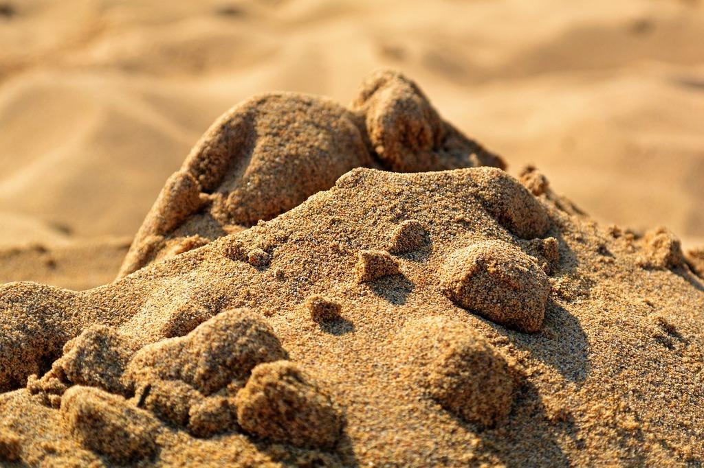 Sand beach hill, travel vacation.