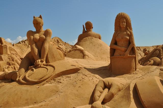 Sand sculpture sand sculpture.