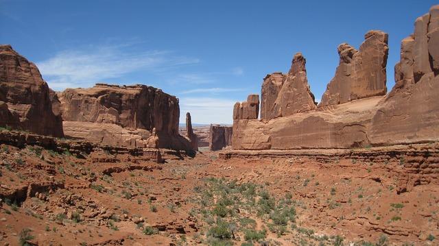 Sand stone desert national park.