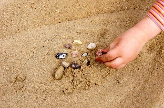 Sand summer hand, people.