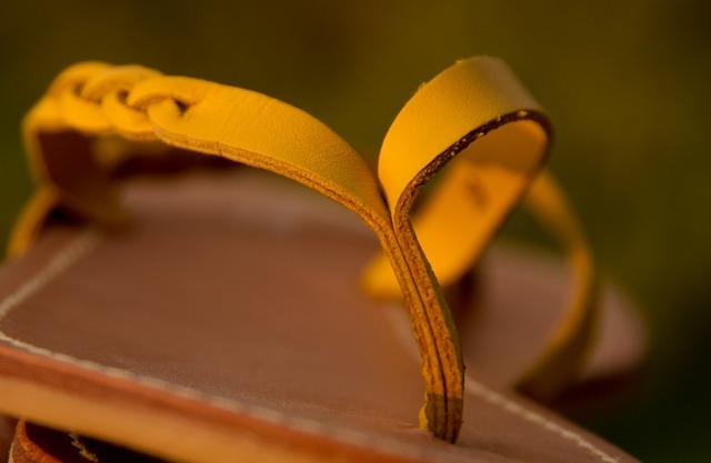Sandals shoes flip-flop, beauty fashion.