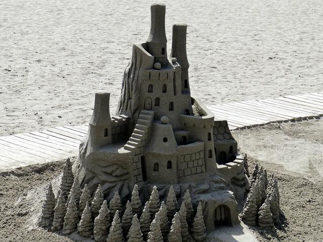 Sandburg sand holiday, travel vacation.