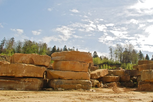 Sandstone from obernkirchen quarry bückeberg.