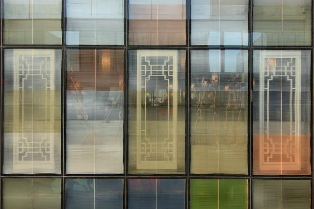 Sanlitun building glass, architecture buildings.