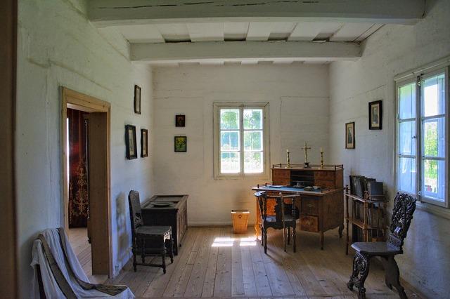 Sanok open air museum rural cottage, architecture buildings.