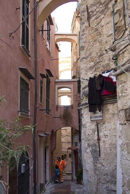 Sanremo old town la pigna, architecture buildings.