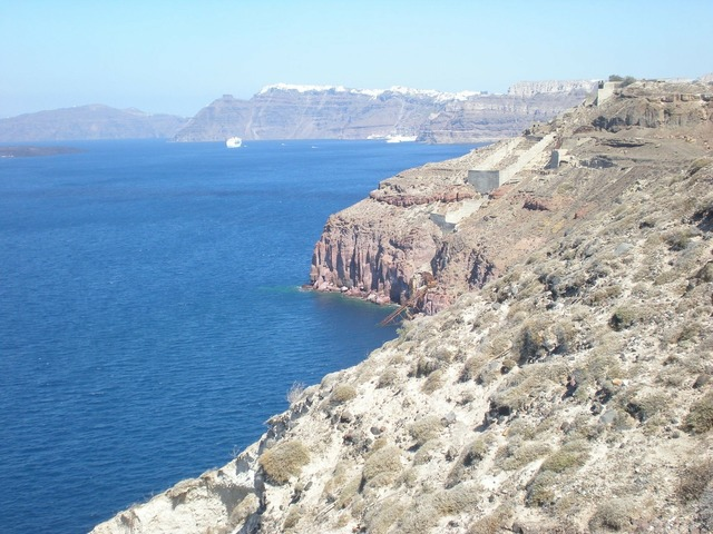 Santorini greek island greece, travel vacation.