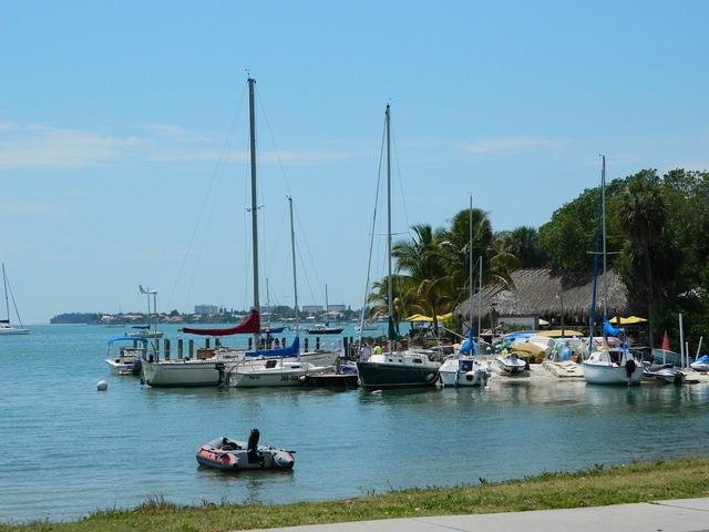 Sarasota florida marina, travel vacation.