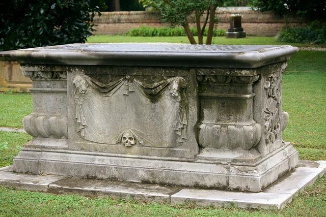 Sarcaphagus coffin tomb.