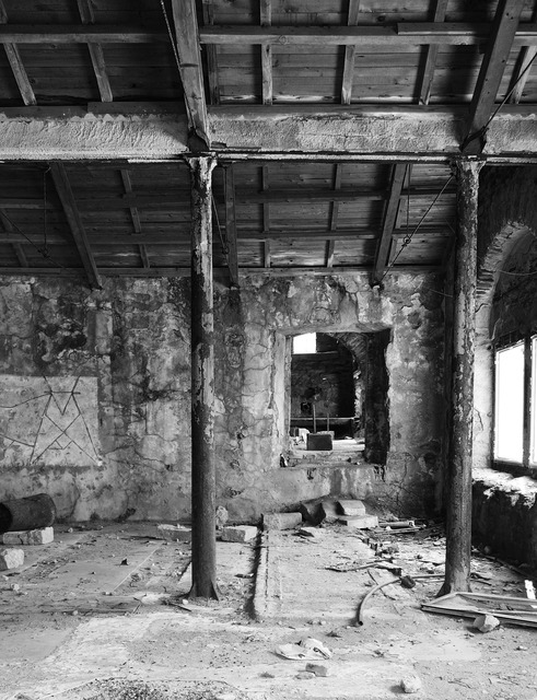 Sardinia argentiera mining town, industry craft.
