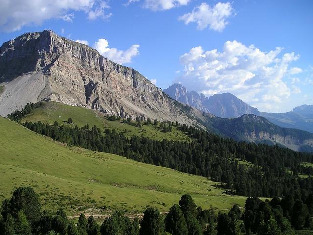 Sassolungo plattkofel mountains.
