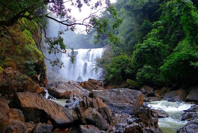 Sathodi falls water fall kali river.