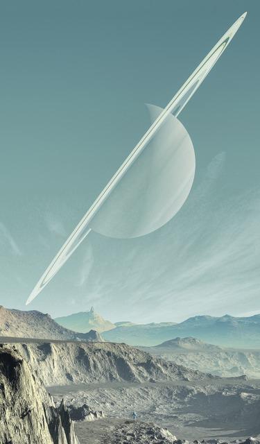 Saturn landscape planet, nature landscapes.
