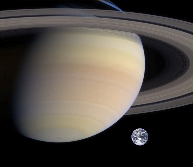 Saturn planet earth.