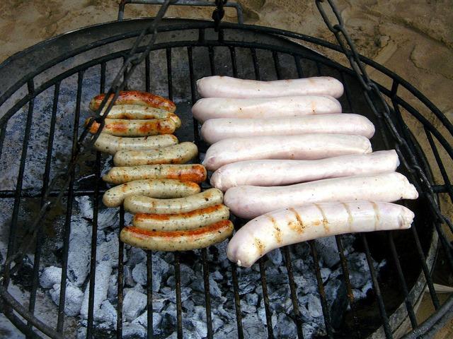 Sausage bratwurst barbecue, food drink.