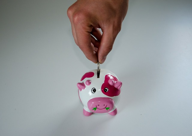 Save piggy bank money, business finance.