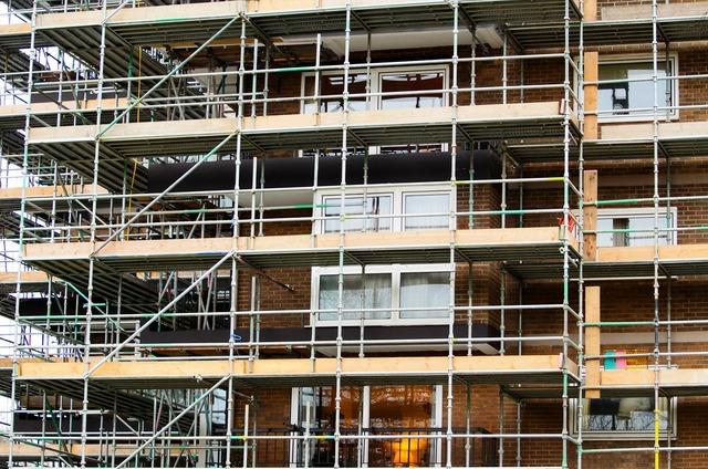 Scaffold scaffolding builder, industry craft.