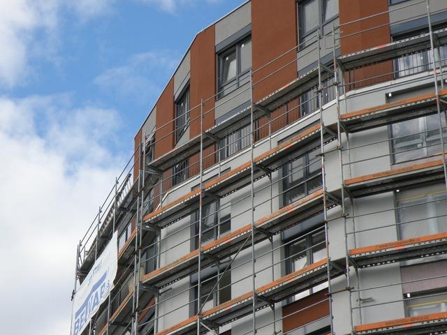 Scaffolding house building, architecture buildings.