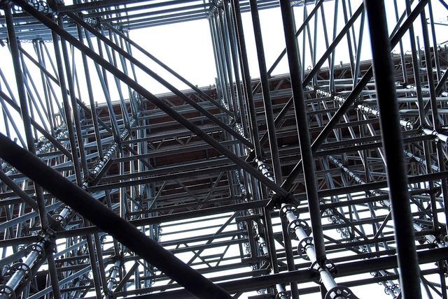 Scaffolding scaffold construction, architecture buildings.