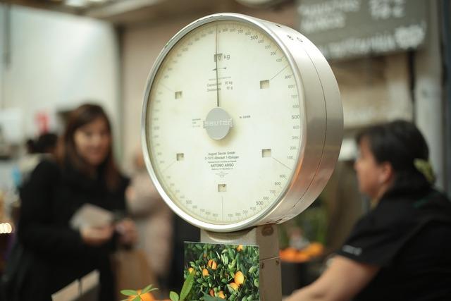 Scale market measure, food drink.