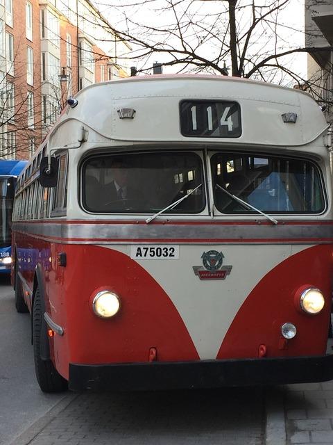 Scania-vabis metropol bus traffic, transportation traffic.