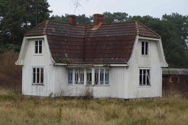Scary house sweden landscape, nature landscapes.