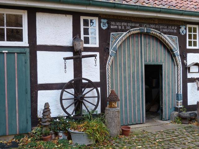 Schaumburg castle truss, architecture buildings.