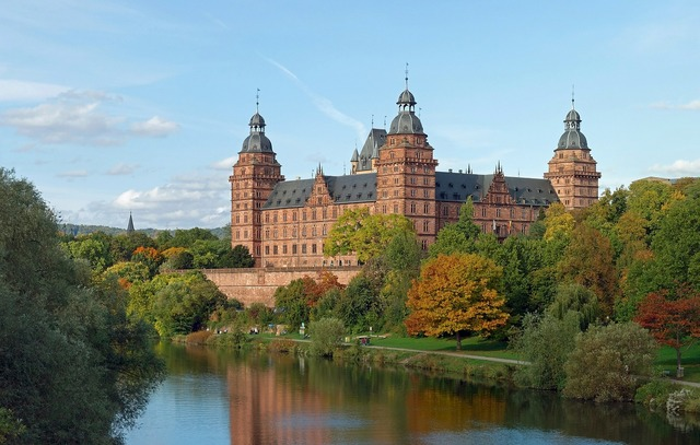 Schloss johannisburg germany aschaffenburg, places monuments.