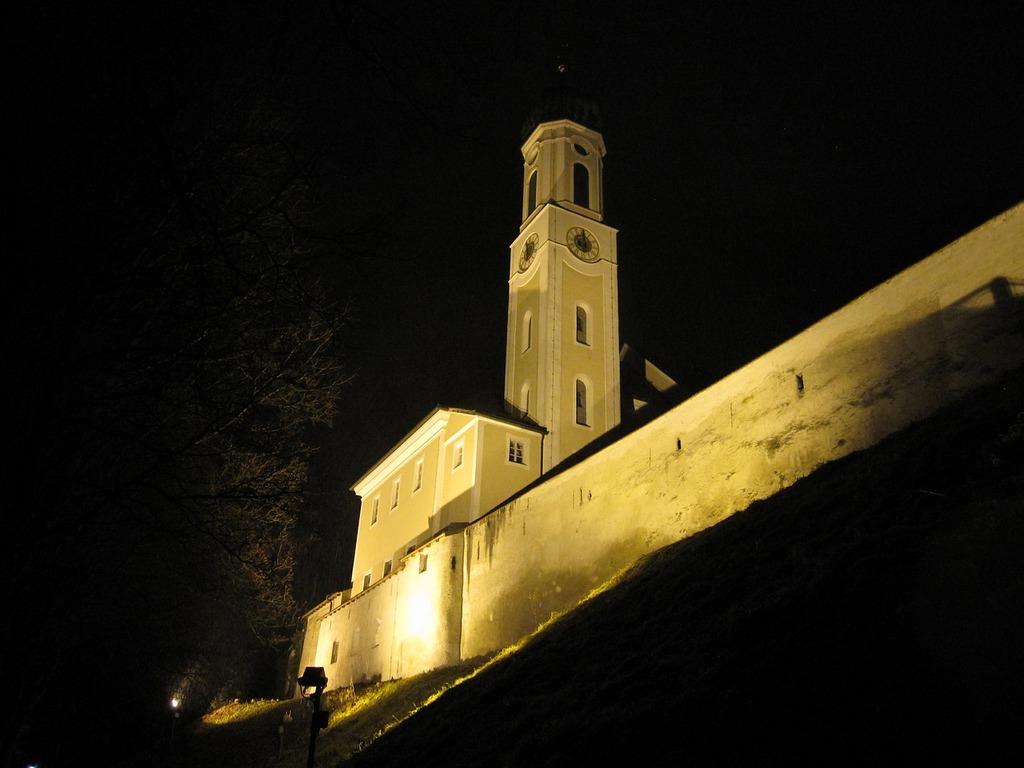 Schongau germany ghost church city wall, religion.