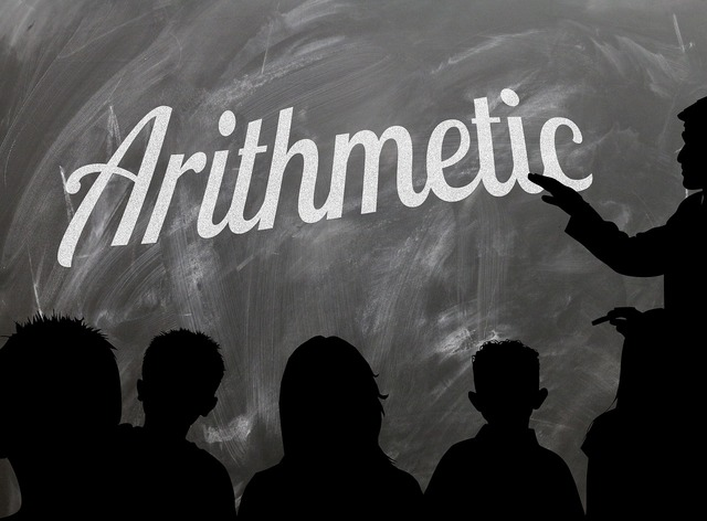 School board arithmetic, education.