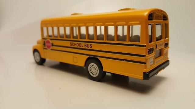 School bus back to school yellow, transportation traffic.