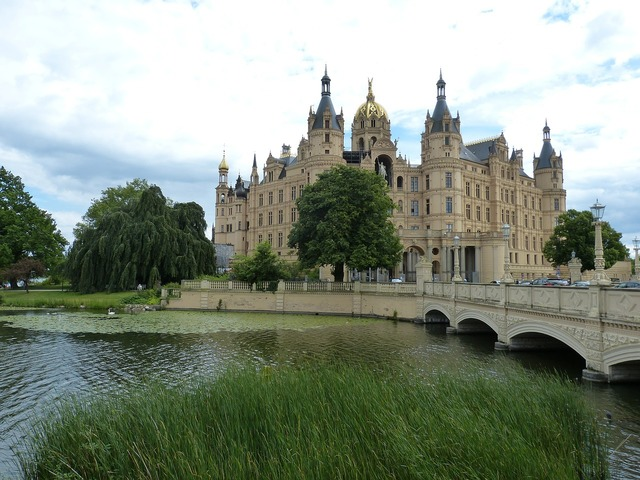 Schwerin castle mecklenburg, architecture buildings.