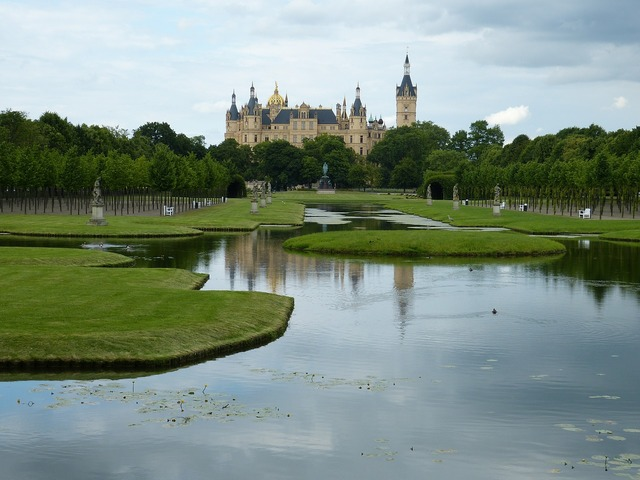 Schwerin castle mecklenburg, travel vacation.