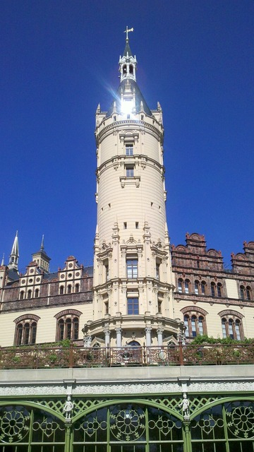 Schwerin castle tower.