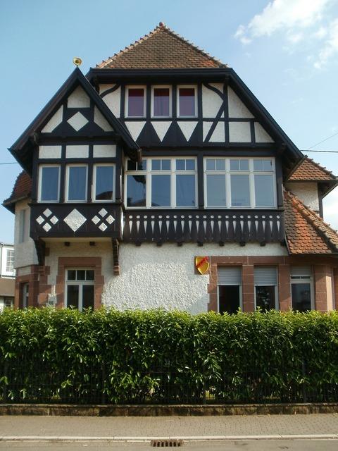 Schwetzingen house timber framing, architecture buildings.