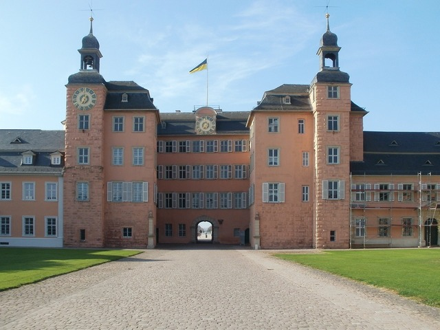 Schwetzingen palace castle, architecture buildings.